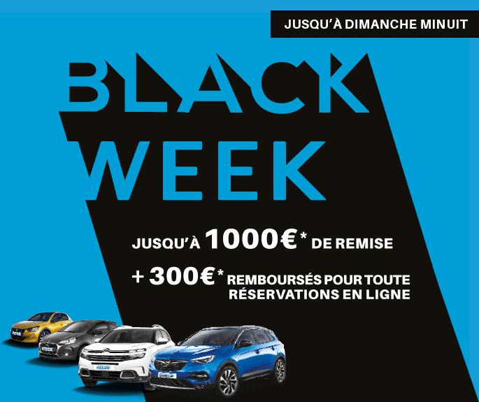 Black Week : 300€ remboursés pour toute réservation en ligne